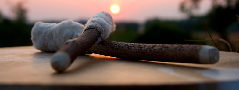 Tamburo al tramonto